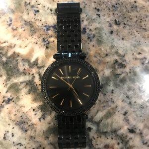Michael Kors Darci Crystal Black Pave Glitz watch